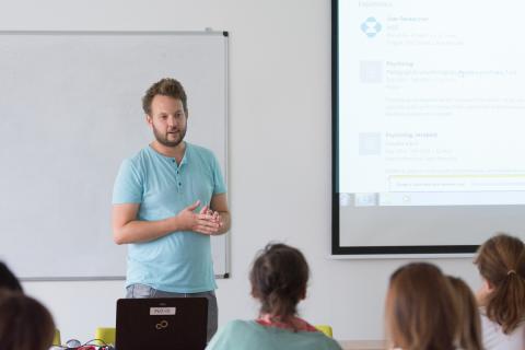 Petr Zatloukal prezentuje MSD na Kariérním workshopu 2017