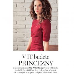 """""""To dokážeš"""" @Work rozhovor s Ditou Přikrylovou - Czechitas"""