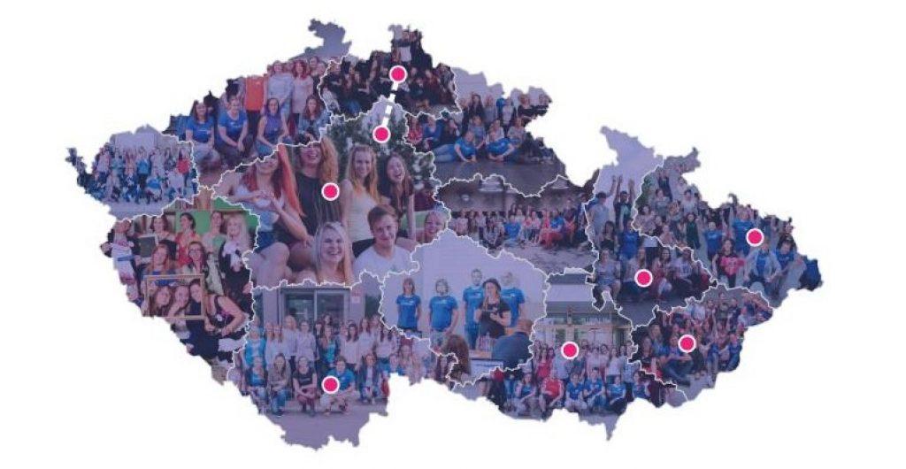 Mapa Regiony Czechitas